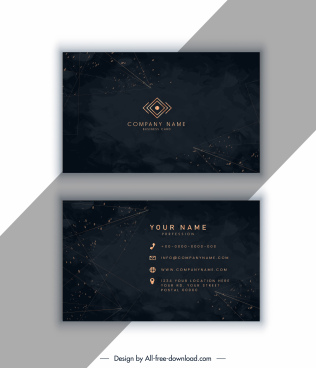 business card template elegant luxury dark sparkling decor