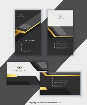 business card template elegant luxury modern black white