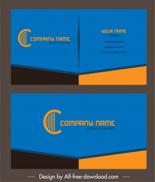 business card template elegant modern colored plain decor