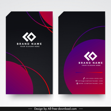 business card template elegant modern colorful abstract decor