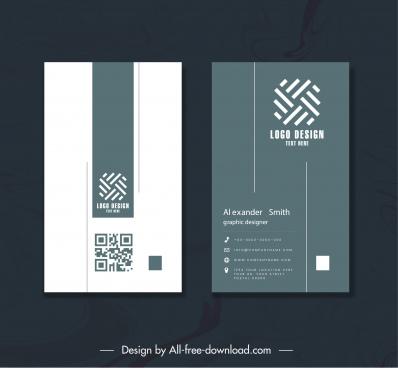 business card template elegant plain geometric logotype decor
