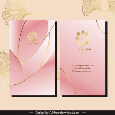 business card template elegant shiny design petals decor