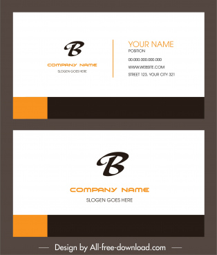 business card template elegant simple plain decor