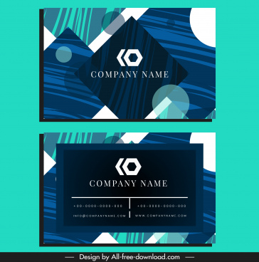 business card template flat modern abstract geometric decor