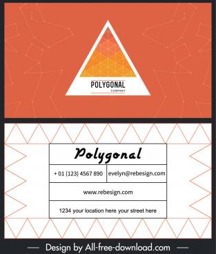 business card template geometric decor modern flat design