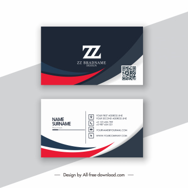 business card template modern abstract contrast decor