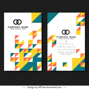 business card template modern abstract geometric design