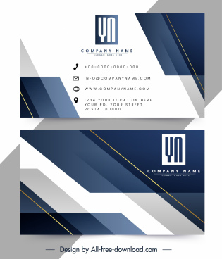 business card template modern abstract techno decor