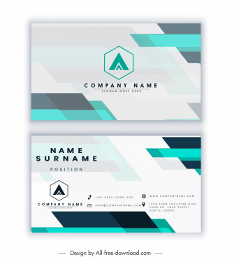 business card template modern blurred flat decor