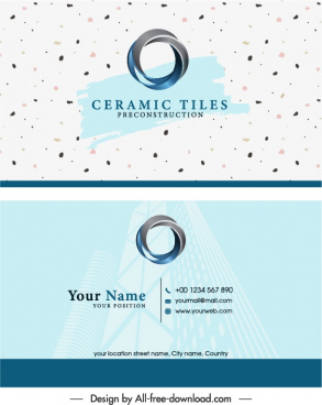 business card template modern bright 3d circle logotype