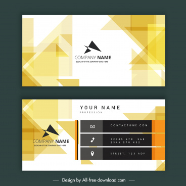 business card template modern bright abstract decor