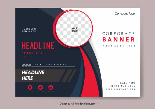 business card template modern contrast design checkered circle