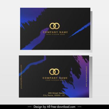 business card template modern dark grunge decor