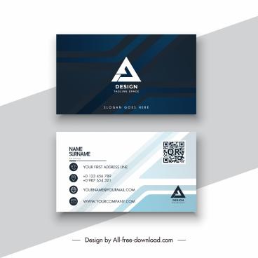 business card template modern elegant dark bright geometry