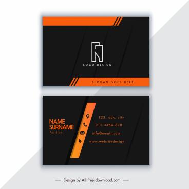 business card template modern elegant dark design