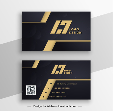 business card template modern elegant luxury dark decor