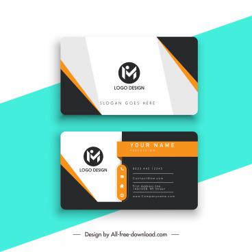 business card template modern flat contrast design