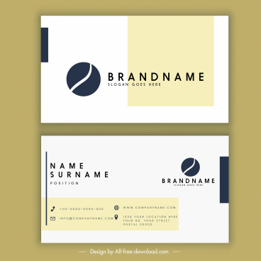 business card template modern flat design circle logo