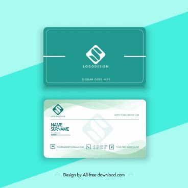 business card template modern flat plain decor