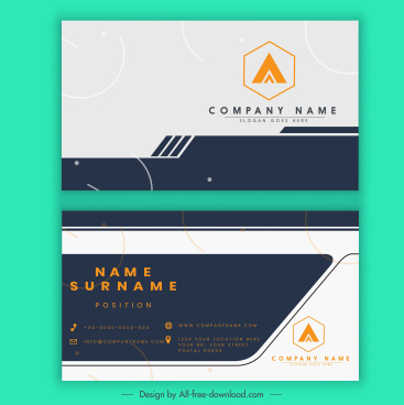 business card template modern plane decor