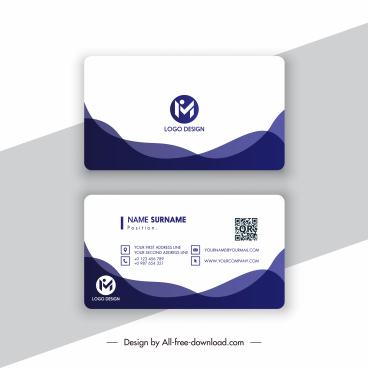 business card template modern simple contrast abstract decor