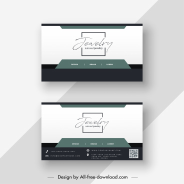 business card template modern simple flat decor