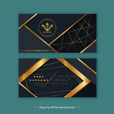 business card template royal theme luxury golden decor