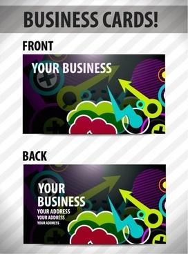 business card template vector arrows