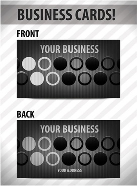business card template vector circle