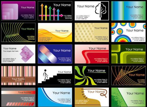business card template vetcor
