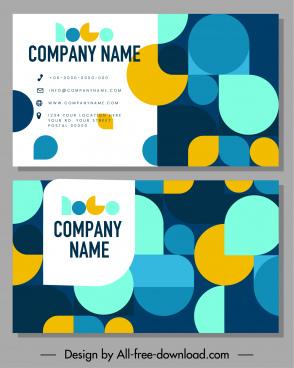 business card templates colorfull flat geometric decor