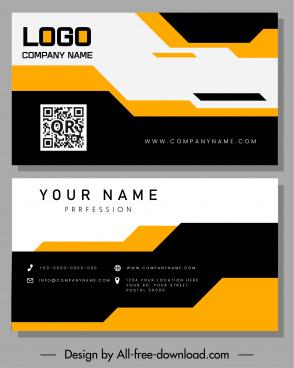 business card templates contrast decor technology design