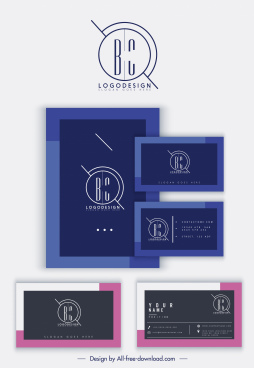 business card templates dark modern simple plain design