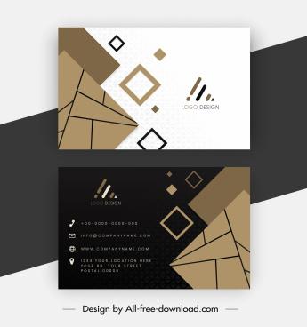 business card templates dynamic geometric decor