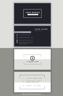 business card templates elegant black white modern decor