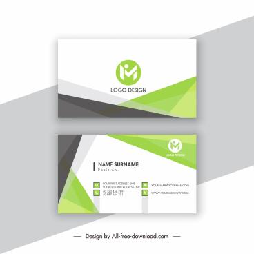 business card templates elegant contrast geometric decor