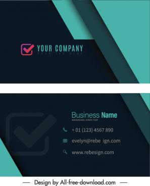 business card templates elegant dark modern 3d decor