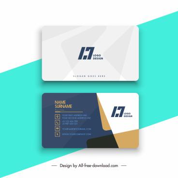 business card templates elegant flat modern abstract decor