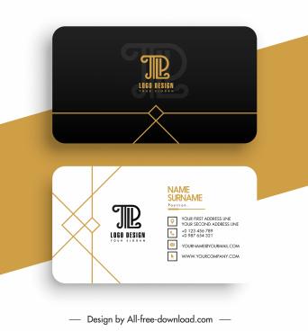 business card templates elegant luxury contrast geometric decor