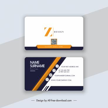 business card templates elegant modern flat decor