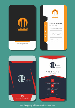 business card templates elegant vertical design