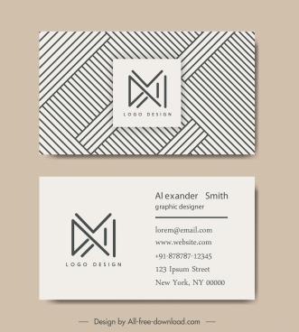 business card templates geometric logotype pattern decor