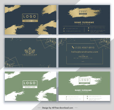business card templates grunge elegance themes decor
