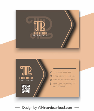 business card templates luxury classic text logotype