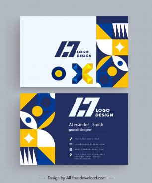 business card templates modern abstract geometrical decor