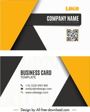 business card templates modern contrast geometric decor