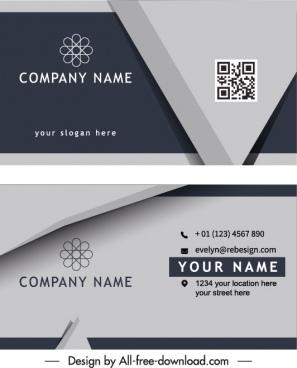 business card templates modern silver 3d design