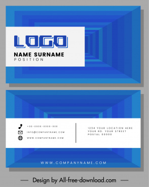 business card templates modern technology 3d design