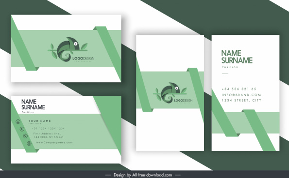 business card templates salamander logo decor