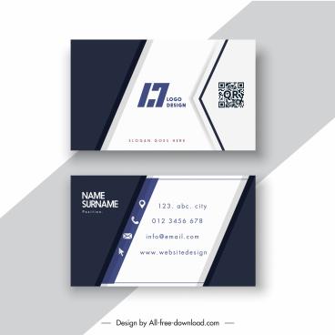 business card templates simple contrast black white decor